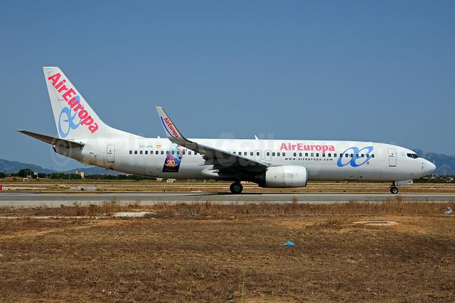 AirEuropa Boeing 737-85P WL EC-JHL (msn 33976) (Disneyland Paris - 20th Anniversary) PMI (Ton Jochems). Image: 909229.