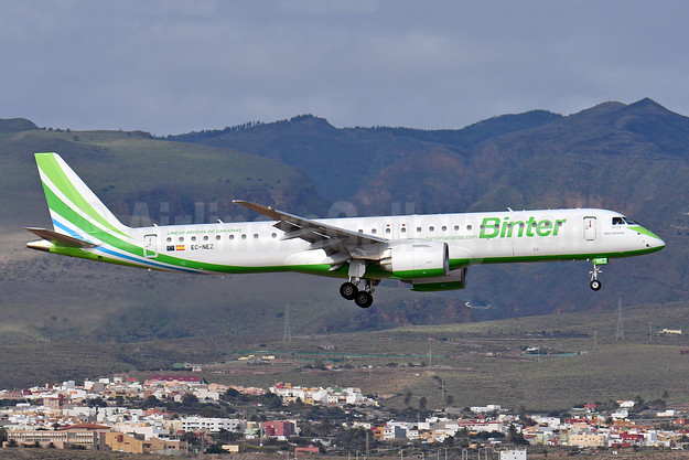 """Islas Canarias"", first E195-E2, delivered on December 3, 2019"