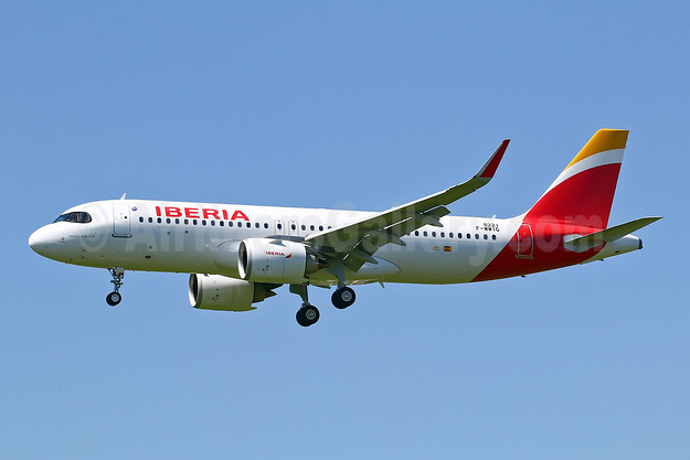 First Iberia Airbus A320neo, delivered on May 29, 2018