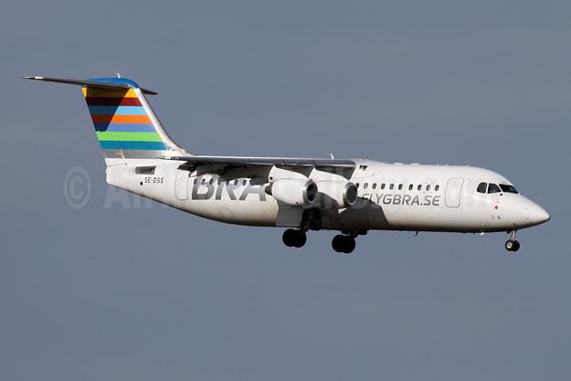 BRA-flygbra.se (Braathens Regional) BAe RJ100 SE-DSS (msn E3245) ZRH (Andi Hiltl). Image: 941159.