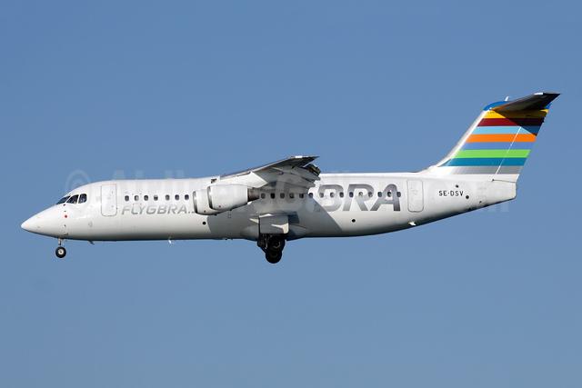 BRA-flygbra.se (Braathens Regional) BAe RJ100 SE-DSV (msn E3250) CFU (Antony J. Best). Image: 942878.