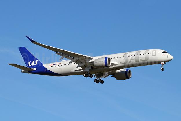 Scandinavian Airlines-SAS Airbus A350-941 F-WZHJ (SE-RSA) (msn 358) TLS (Eurospot). Image: 948367.