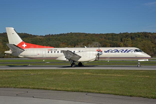 Adria Switzerland SAAB 2000 HB-IYD (msn 059) (Etihad Regional colors) ZRH (Rolf Wallner). Image: 939608.