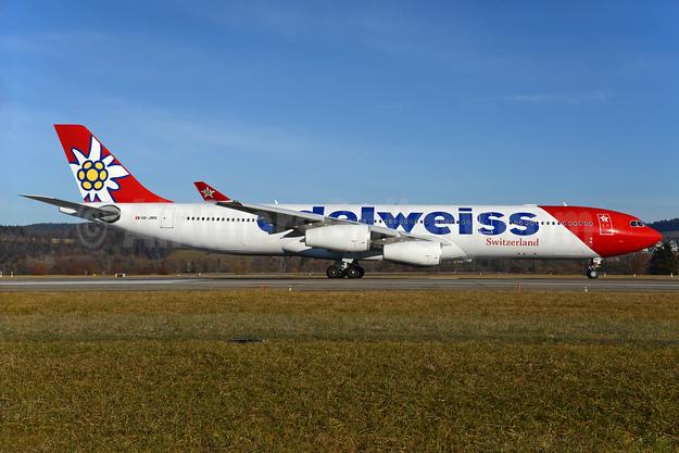 Edelweiss Switzerland (Edelweiss Air) Airbus A340-313 HB-JMG (msn 562) ZRH (Rolf Wallner). Image: 935965.
