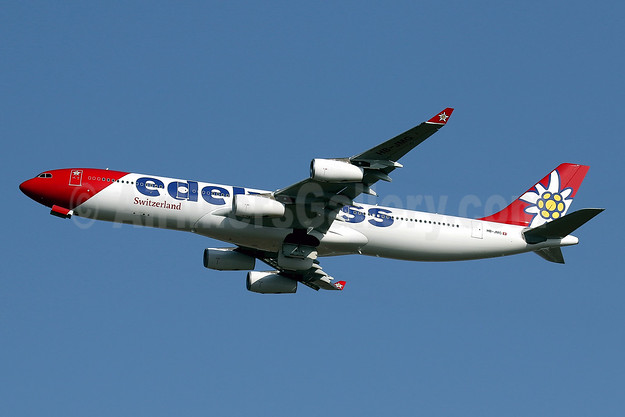 Edelweiss Air's first Airbus A340, delivered on September 23, 2016