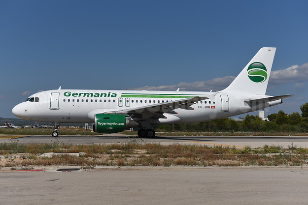 Germania (Switzerland) (Germania.ch) Airbus A319-111 HB-JOH (msn 3589) PMI (Ton Jochems). Image: 946307.