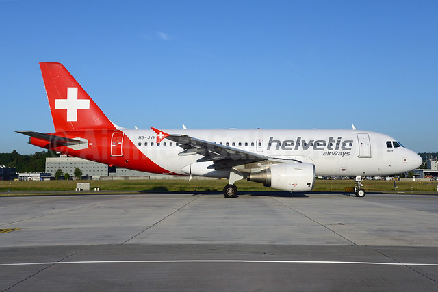 Helvetic Airways Airbus A319-112 HB-JVK (msn 1886) ZRH (Rolf Wallner). Image: 923156.