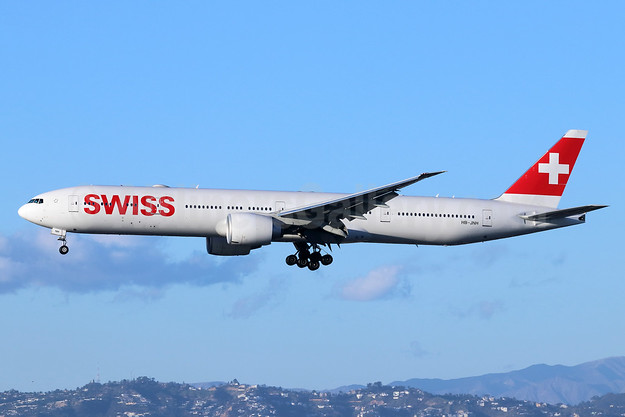 Swiss International Air Lines Boeing 777-300 ER HB-JNH (msn 62753) LAX (Michael B. Ing). Image: 945980.