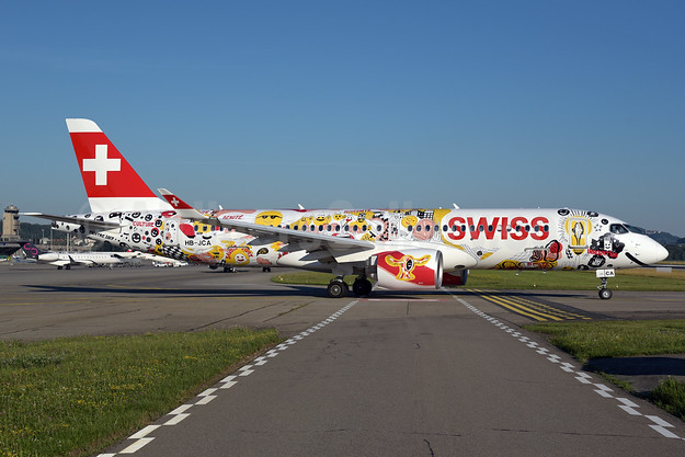 Swiss dedicates its first Bombardier CS300 to Swiss Romandy and its citizens