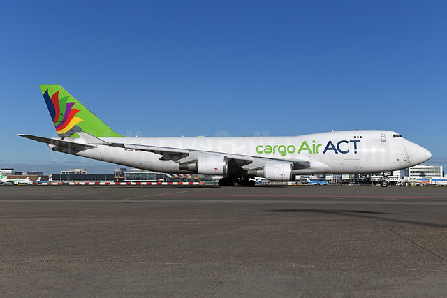 ACT Airlines (Air ACT cargo) Boeing 747-428F ER TC-ACM (msn 32867) AMS (Ton Jochems). Image: 953073.