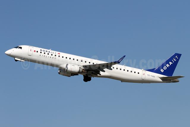 Borajet Airlines Embraer ERJ 190-200LR (ERJ 195) TC-YAU (msn 19000088) ZRH (Andi Hiltl). Image: 935050.