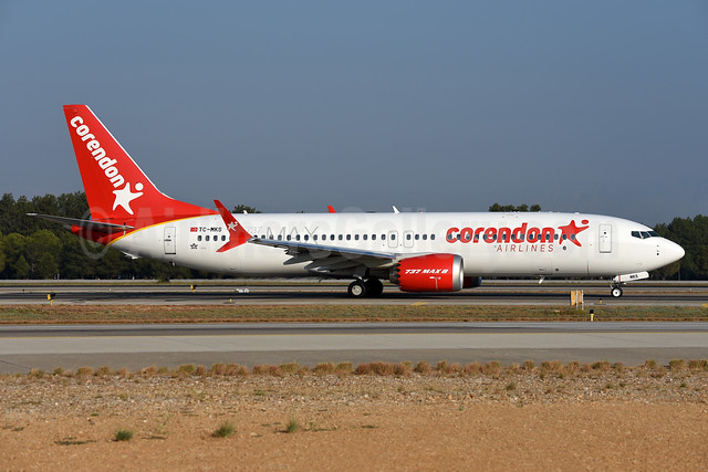 Corendon Airlines Boeing 737-8 MAX 8 TC-MKS (msn 64936) AYT (Ton Jochems). Image: 943639.