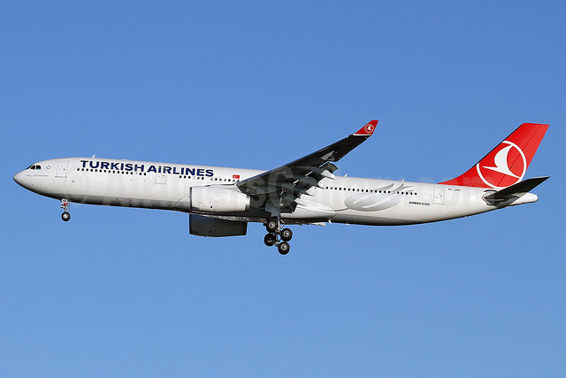 Turkish Airlines Airbus A330-343 TC-JNR (msn 1311) LHR (Keith Burton). Image: 910283.