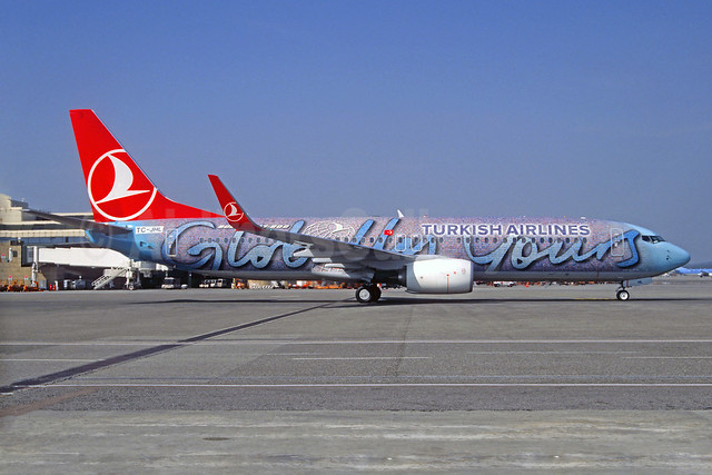 Turkish Airlines Boeing 737-8F2 WL TC-JHL (msn 40976) (Globally Yours) MXP (Jacques Guillem Collection). Image: 922796.