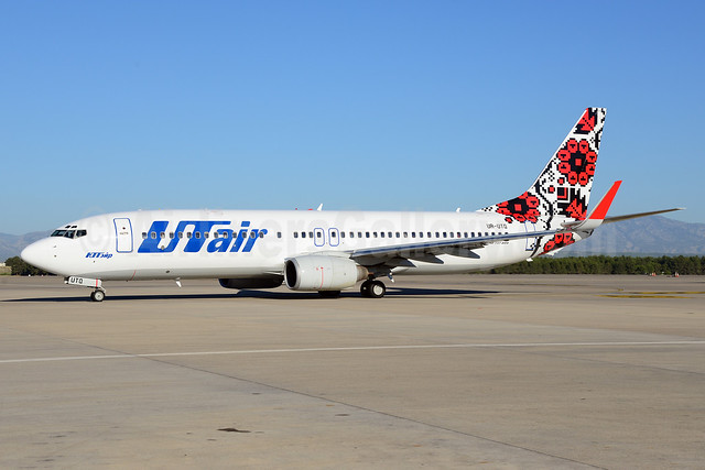 UTair Aviation (Ukraine) Boeing 737-83N WL UR-UTQ (msn 30679) AYT (Ton Jochems). Image: 913728.