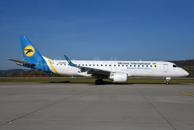Ukraine International Airlines Embraer ERJ 190-100LR UR-EME (msn 19000614) ZRH (Rolf Wallner). Image: 935415.
