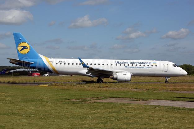 Ukraine International Airlines Embraer ERJ 190-100STD UR-EMA (msn 19000494) SEN (Keith Burton). Image: 951889.