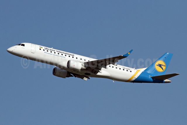 Ukraine International Airlines Embraer ERJ 190-100LR UR-EME (msn 19000614) ZRH (Andi Hiltl). Image: 925539.