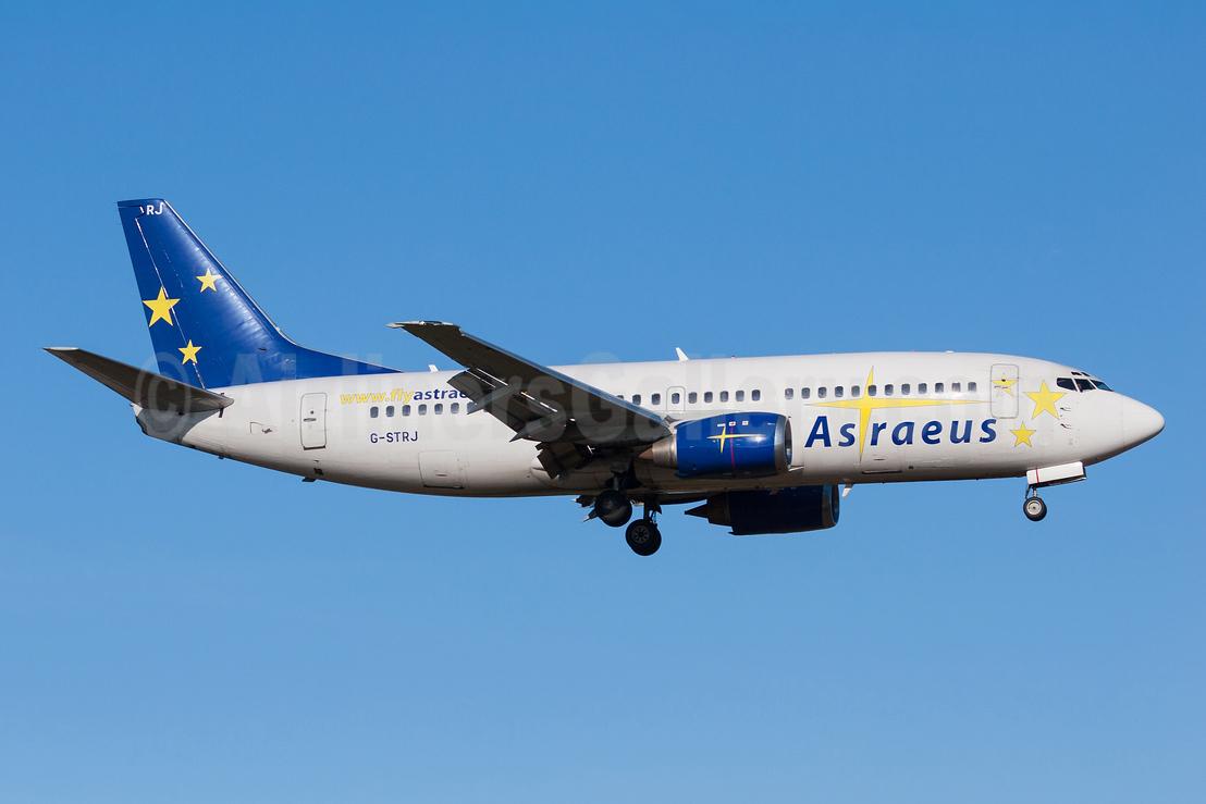 Astraeus Airlines Boeing 737-33A G-STRJ (msn 25119) ARN (Stefan Sjogren). Image: 940599.