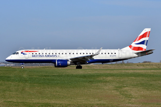 British Airways-BA CityFlyer Embraer ERJ 190-100SR G-LCYX (msn 19000178) BHX (Fred Freketic). Image: 942630.
