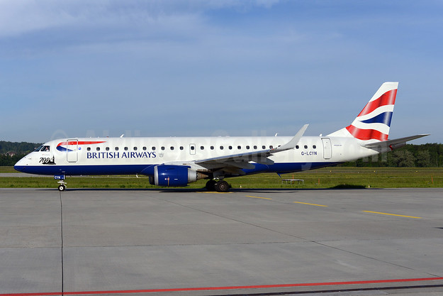 British Airways-BA CityFlyer Embraer ERJ 190-100SR G-LCYN (msn 19000392) (700th) ZRH (Rolf Wallner). Image: 923259.