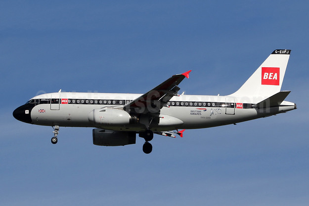 Ferried SNN-LHR, in service LHR-MAN March 4, 2019, in 1959 BEA retro livery