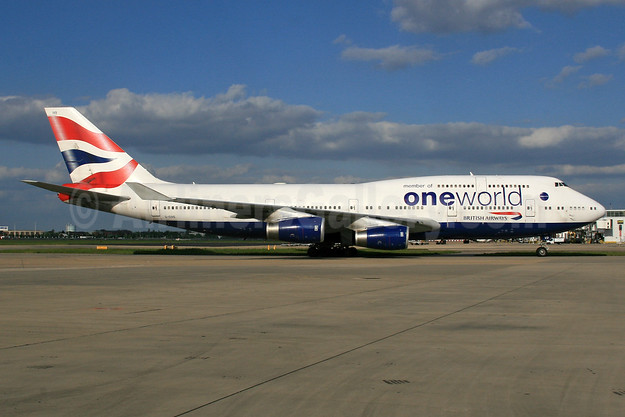 British Airways Boeing 747-436 G-CIVD (msn 27349) (Oneworld) LHR (SPA). Image: 935730.