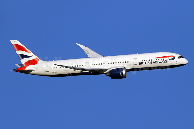 British Airways Boeing 787-9 Dreamliner G-ZBKA (msn 38616) LHR (SPA). Image: 944856.