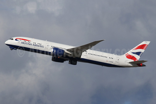 British Airways Boeing 787-9 Dreamliner G-ZBKM (msn 38629) LHR (SPA). Image: 944862.