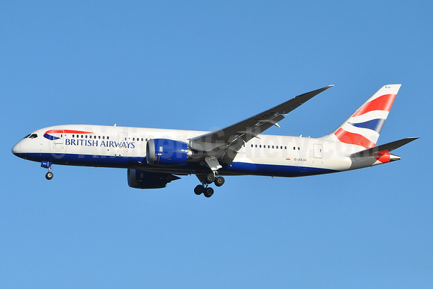 British Airways Boeing 787-8 Dreamliner G-ZBJA (msn 38609) LHR (Karl Cornil). Image: 922460.