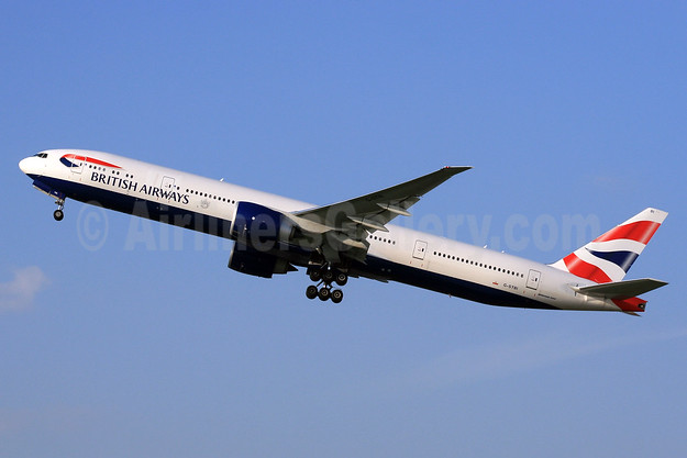 British Airways Boeing 777-336 ER G-STBI (msn 43702) LHR (SPA). Image: 926790.