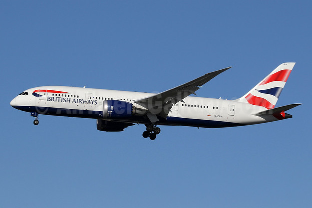 British Airways Boeing 787-8 Dreamliner G-ZBJI (msn 60626) LHR (SPA). Image: 940955.