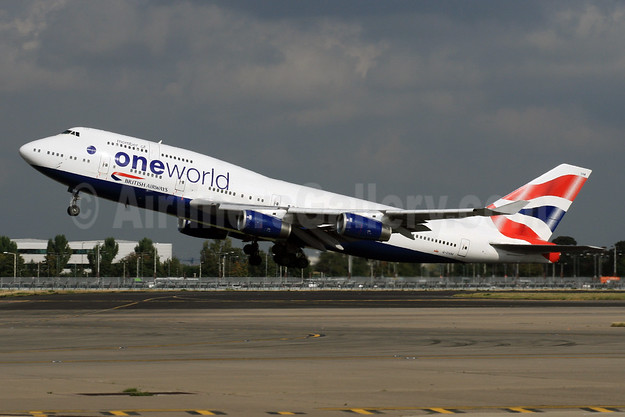 British Airways Boeing 747-436 G-CIVM (msn 28700) (Oneworld) LHR (SPA). Image: 926816.