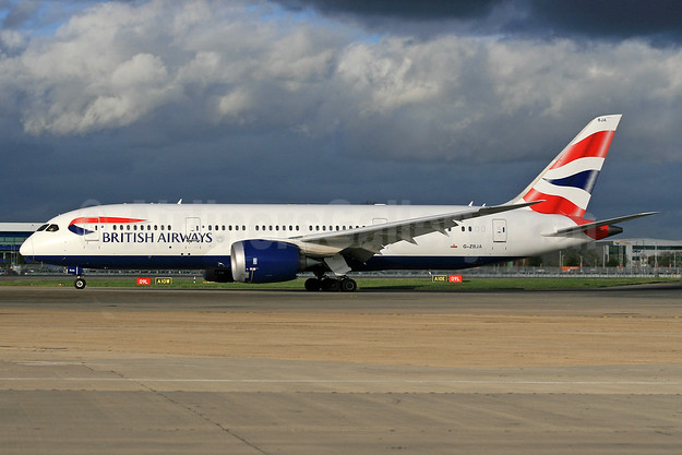 British Airways Boeing 787-8 Dreamliner G-ZBJA (msn 38609) LHR (SPA). Image: 935593.