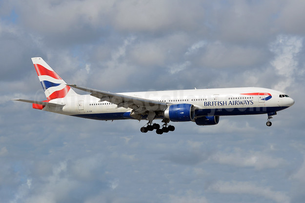 British Airways Boeing 777-236 ER G-VIIR (msn 29322) FLL (Bruce Drum). Image: 105013.