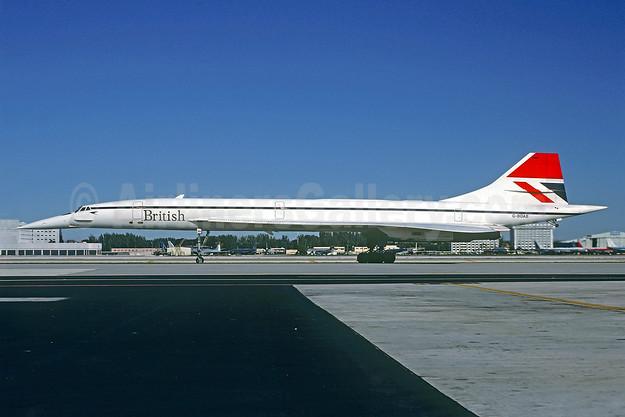 British Airways Aerospatiale-BAC Concorde 102 G-BOAB (msn 208) MIA (Bruce Drum). Image: 102762.