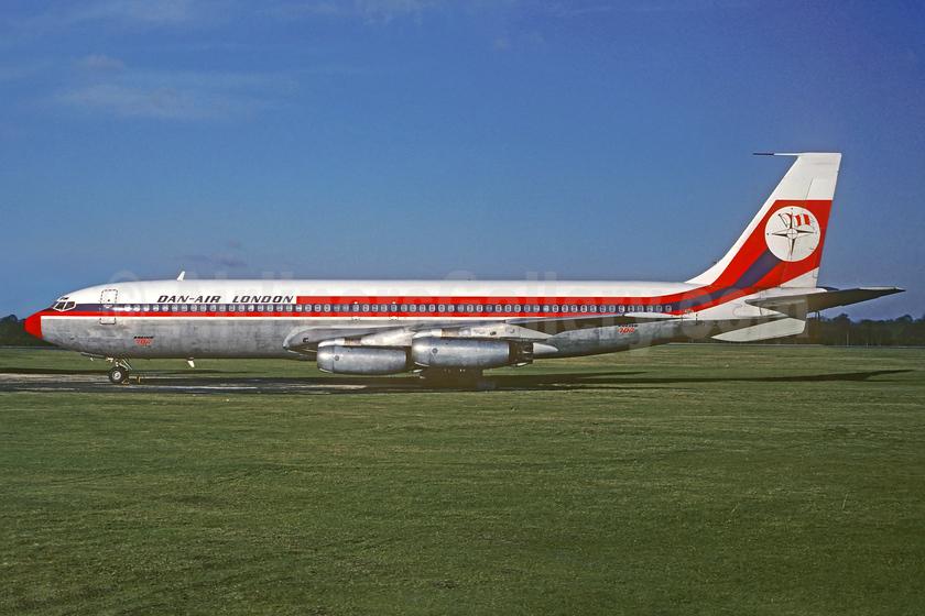 Dan-Air London (Dan-Air Services) Boeing 707-321 G-AZTG (msn 17600) (Air Malta colors) STN (Christian Volpati Collection). Image: 932931.