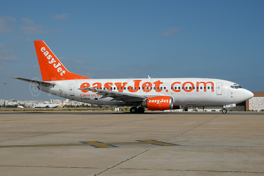 easyJet (easyJet.com) (UK) Boeing 737-36Q G-ODUS (msn 28659) FAO (Ton Jochems). Image: 953705.