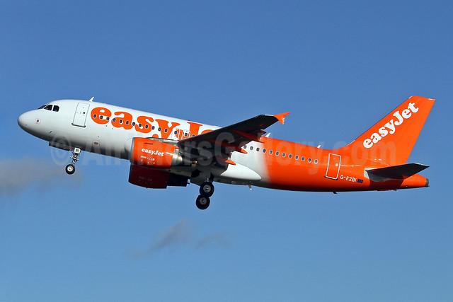 easyJet (easyJet.com) (UK) Airbus A319-111 G-EZBI (msn 3003) SEN (Keith Burton). Image: 922470.