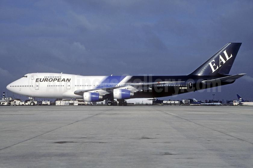 European Aviation AirCharter-EAL Boeing 747-236B G-BDXH (msn 21535) CDG (Christian Volpati). Image: 938952.