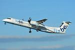 Flybe-British European (2nd) Bombardier DHC-8-402 (Q400) G-JECJ (msn 4110) BSL (Paul Bannwarth). Image: 938110.