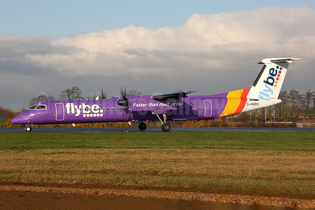 Flybe (British European 2nd) Bombardier DHC-8-402 (Q400) G-PRPO (msn 4214) SEN (Keith Burton). Image: 948680.