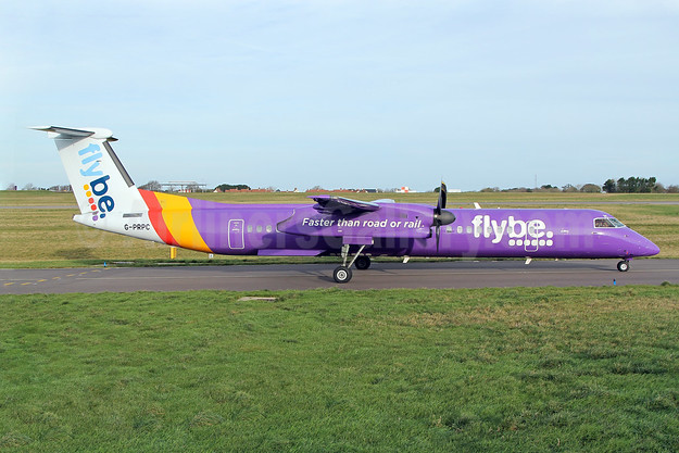 Flybe (British European 2nd) Bombardier DHC-8-402 (Q400) G-PRPC (msn 4338) GCI (Nick Dean). Image: 940456.