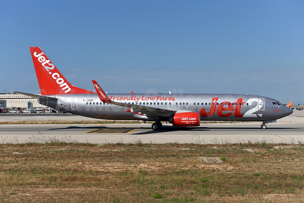 Jet2-Jet2.com Boeing 737-800 WL G-JZHP (msn 63147) (Friendly Low Fares) PMI (Ton Jochems). Image: 946501.