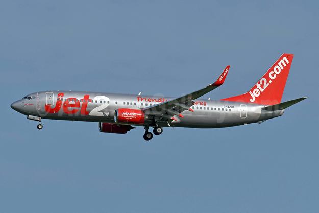 Jet2-Jet2.com Boeing 737-800 WL G-JZHS (msn 63149) (Friendly Low Fares) STN (Richard Vandervord). Image: 953240.
