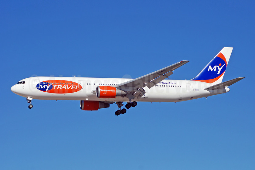 MyTravel Airways (UK) Boeing 767-31K ER G-DAJC (msn 27206) LAS (Bruce Drum). Image: 100239.