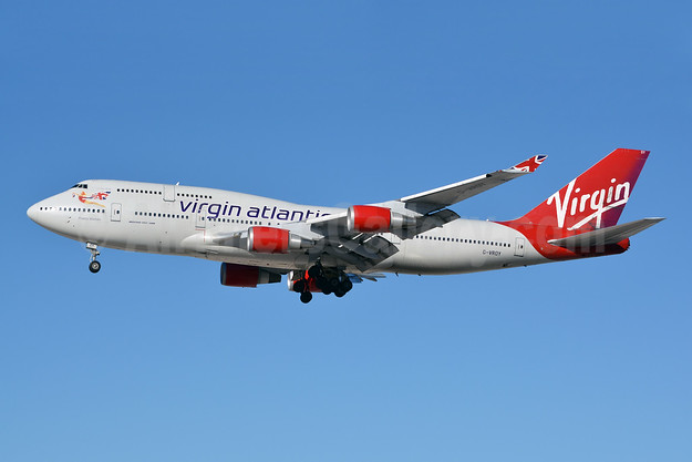 Virgin Atlantic Airways Boeing 747-443 G-VROY (msn 32340) LAS (Jay Selman). Image: 402519.