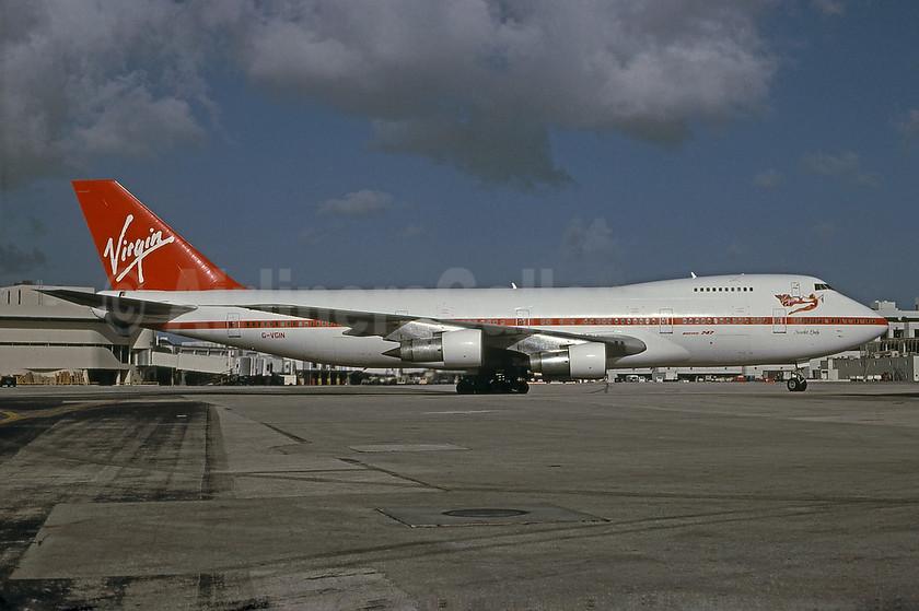 "Airline Color Scheme - Introduced 1984 - ""Scarlet Lady"""