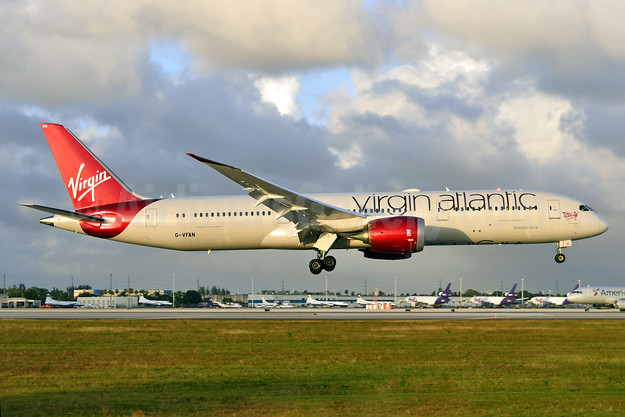 Virgin Atlantic Airways Boeing 787-9 Dreamliner G-VFAN (msn 37977) MIA (Ken Petersen). Image: 936548.
