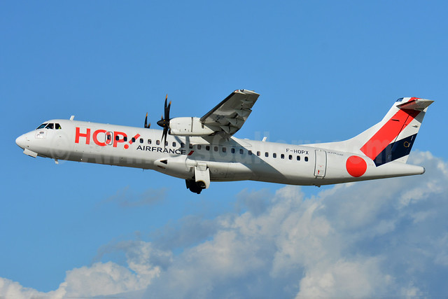 Hop! For Air France ATR 72-212A (ATR 72-600) F-HOPX (msn 1257) BSL (Paul Bannwarth). Image: 933305.
